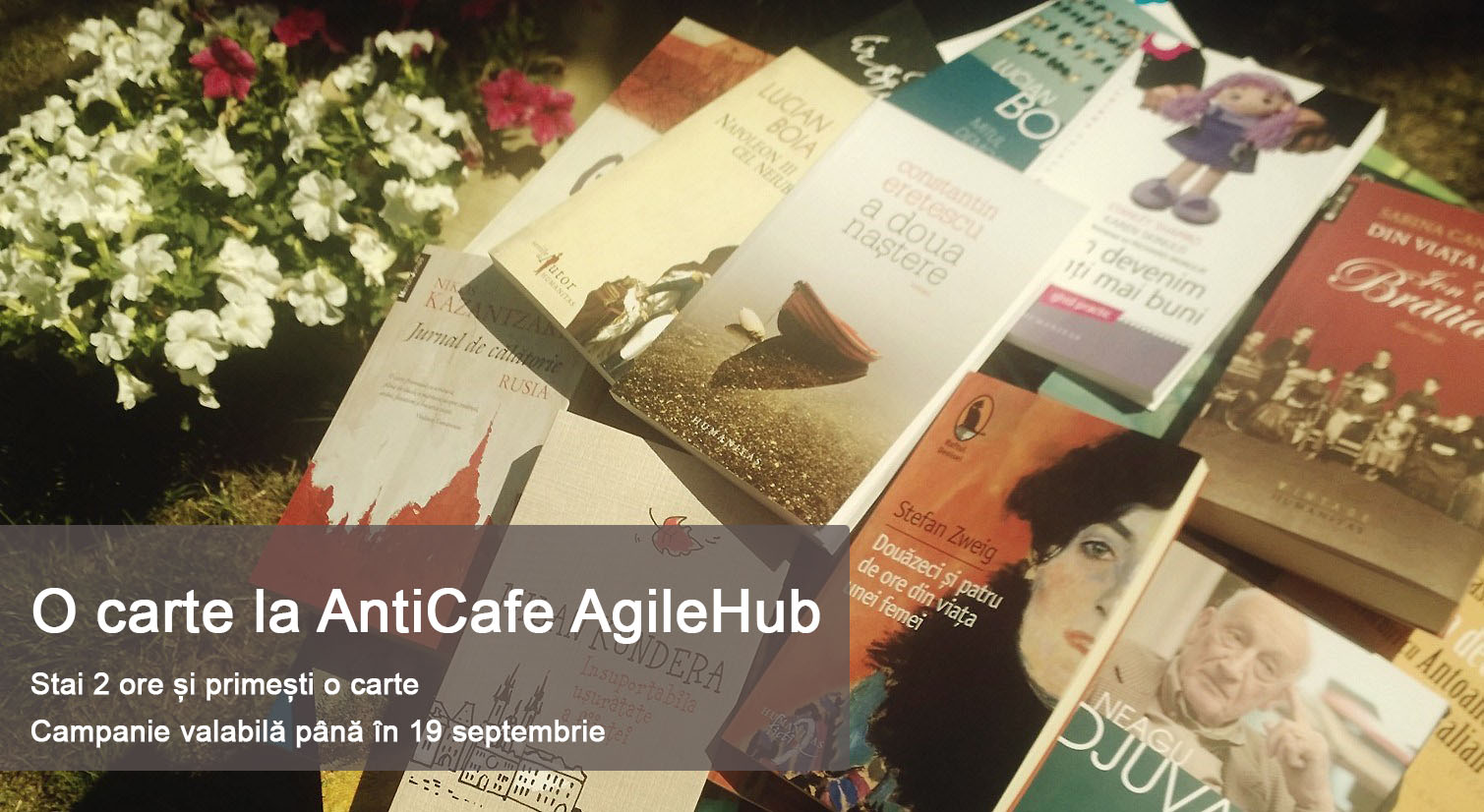 O carte la AntiCafe AgileHub Text Mare